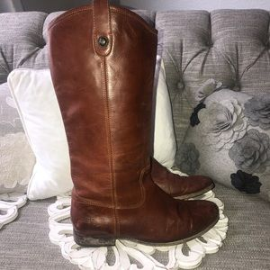 Frye Tall Vintage Leather Boots Woman's 11